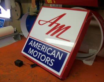 American Motors Lighted sign 21x21x4 inch