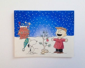 Spirit of Christmas greeting cards - hand drawn, made to order, envelopes included