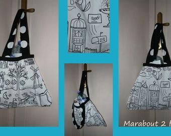 Form trapeze cotton shoulder bag