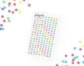 Pastel Confetti Hearts Stickerset  - Aquarell Sticker - Pretty Planning - Scrapbooking - Bullet Journaling