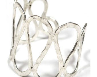 Silver bracelet, eco-friendly and ethical fair trade from ethnic Indian