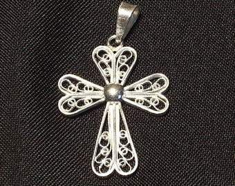 Silver Christian cross pendant