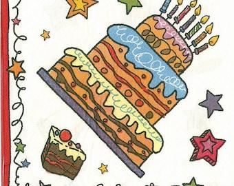 2 (256) birthday cake paper napkins