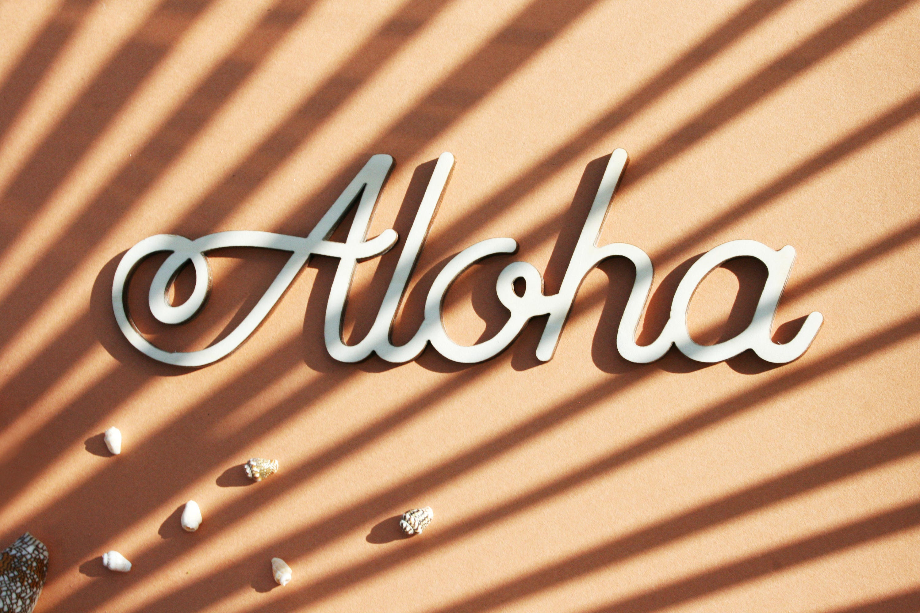 Aloha / Laser cut sentence Personalized word Custom sign wood for ...