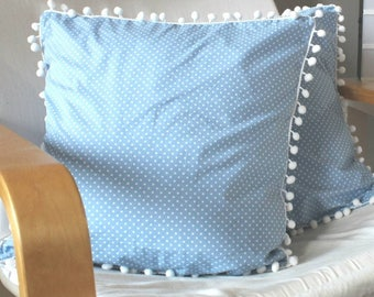 Cushion Cover In Pale Blue