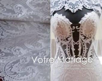 "Wedding dress ""Dominica"",lace wedding dress, dress with train,mermaid wedding dress,wedding dress transformer,"