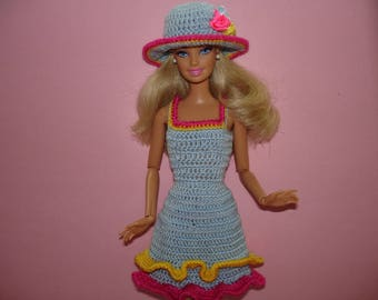 Barbie doll clothes Barbie birthday outfit for girl  Barbie dress Barbie accessory Crochet barbie clothes Barbie handmade Barbie doll outfit