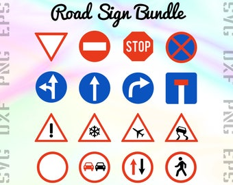 Road Sign SVG Files - Road Sign Clipart - Traffic Sign Cricut Files - Road Sign Dxf Files - Road Sign Cut Files - Traffic Sign Png Files