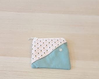 almond green wallet
