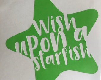 Wish Upon a Starfish Decal sticker for car window, mug, wine glass, coffee tumbler, laptop, customization available, crazy chicken lady,
