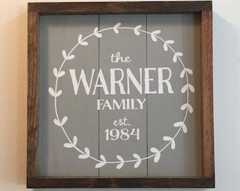 Family Est. Name Sign