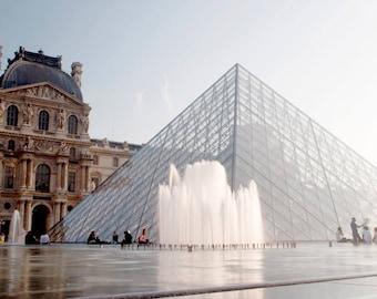 Canvas Print, Paris Photography, Louvre Pyramid Photo Paris, Paris Gallery Wall Art Louvre Paris France Europe Photography Louvre In Paris