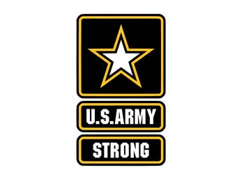 US Strong SVG and Studio 3 Cut File Decal Cut Files Logo Military Silhouette Cricut Decals Cuts Logos United States of America Army