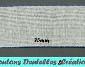 Band embroidery - band of linen - flexible - 75mm (BAB-11)