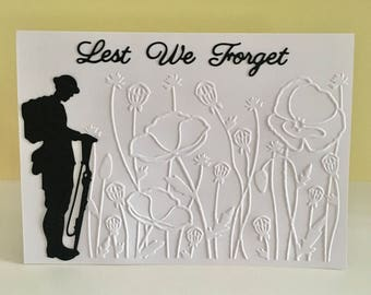 Remembrance Day Card 'Lest we forget'