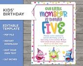5th Birthday Invite, DIY ...