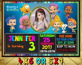 Bubble Guppies Birthday Invitation. Bubble Guppies Invitations. Bubble Guppies Invitation. Bubble Guppies Party, Bubble Guppies Card