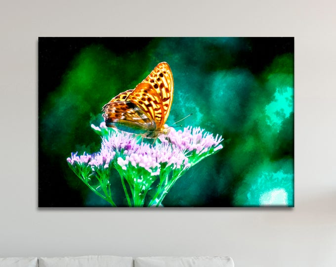 Butterfly canvas print, Сute canvas, Art Butterfly, Canvas, Interior decor, Room decor, Gift for her, Large Art painting, Gift