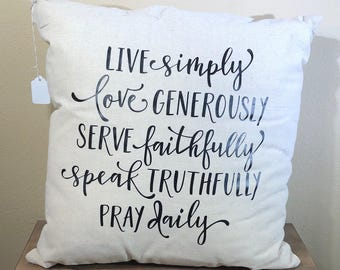 Natural Canvas Pillow - Live Simply