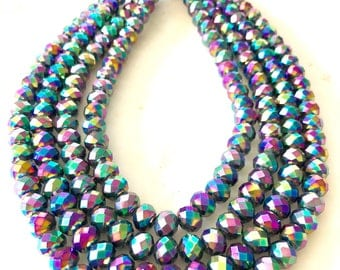 Sparkling Rainbow: 4 Strand One of a Kind Necklace