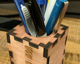 custom laser cut ink pen holder