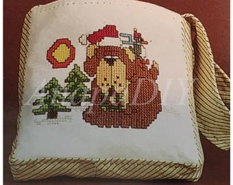 PDF Cross-Stitch/Sewing Dog Gift Bag