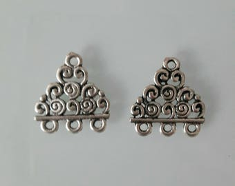Lot 2 charms silver triskels aged 20 mm