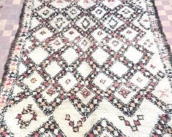 Vintage moroccan carpet,marmoucha carpet, berber carpet, vintage moroccan rug,310x180cm, tribal style, moroccan decor, wool carpet,