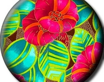 Cabochon resin 25 mm - tropical flower (805) stick