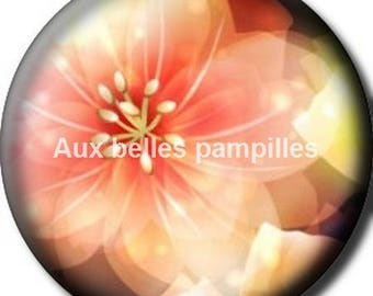 Round cabochon resin 25 mm - magic flower paste (1535) - flower, floral