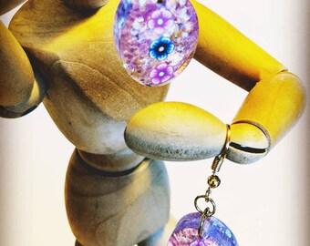 Floral resin earrings