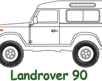 LandRover 90 Embroidery design