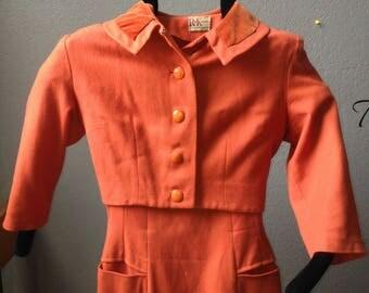 Burnt orange two piece suit