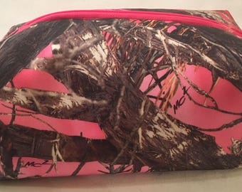 Camouflage Print Cosmetics Bag, Toiletries Bag, Travel Bag