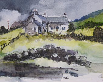 The Drover's Inn - watercolour (print)