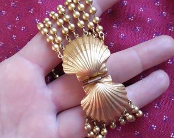 Marc lubera Armband, Modeschmuck, hochwertiger Modeschmuck, vergoldet, Muschel, seashell, vintage
