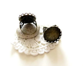 10 support rings lace bronze 20mm