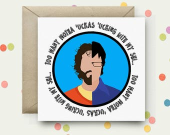 Flight of the Conchords Square Pop Art Card & Envelope