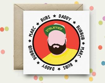 Personalised Portrait Square Pop Art Card & Envelope
