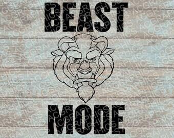 Beast Mode SVG, DXF, JPEG, and Studio Downloads