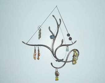 forged hanging jewelry holder