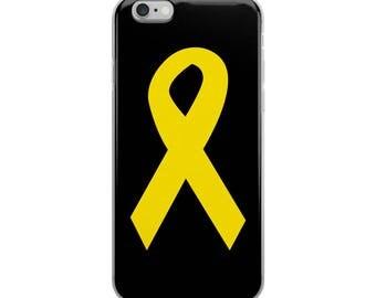 Yellow Ribbon iPhone 6/6 Plus Case, Yellow Awareness Ribbon, Awareness Ribbon Phone Case, Yellow Ribbon iPhone Case