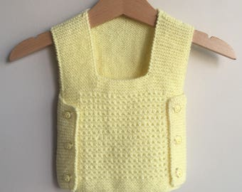 Baby Boy Knit Waistcoat Sweater Newborn To All Toddler Sizes