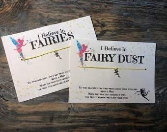 Tinkerbell wish bracelet.Disney wish bracelet.Fairy wish bracelet.I believe in Fairy dust.Fairy charm bracelet.I believe in fairies