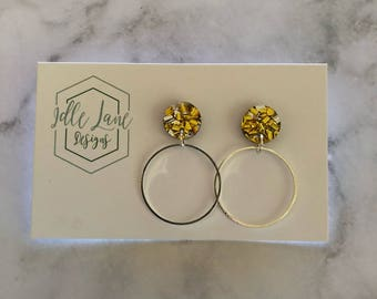 Circle dangles with sparkle studs