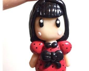 Polymer clay Gorjuss little girl charm