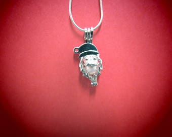Santa Pearl Cage Pendant & 1 Akoya Oyster with AAA Pearl(S) *Chain Not Included
