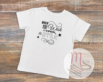 Wish Upon a Star Child's T-Shirt,  Girl, Female, TShirt, Top, Pretty, Star, Childrens