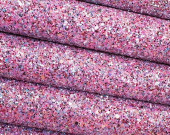 Princess Party Premium Quality Chunky Glitter Fabric Sheet