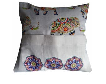 Beautifully embroidered Mandalay cushion cover
